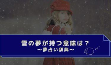 夢占い|雪の夢は吉夢?吹雪や季節外れの雪・行動で違う雪の夢の意味は?